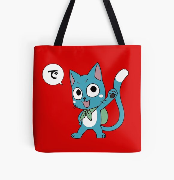Happy Tail All Over Print Tote Bag RB0607 product Offical Fairy Tail Merch