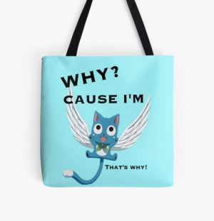 Cause Im Happy All Over Print Tote Bag RB0607 product Offical Fairy Tail Merch