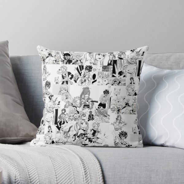 Fairy Tail Manga Collage  Throw Pillow RB0607 product Offical Fairy Tail Merch