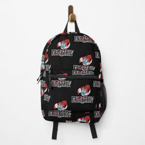 Black Fairy Tail and Red Happy Logo, Anime   Backpack RB0607 product Offical Fairy Tail Merch