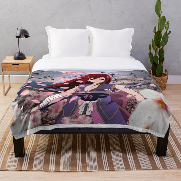 Erza Scarlet Throw Blanket RB0607 product Offical Fairy Tail Merch