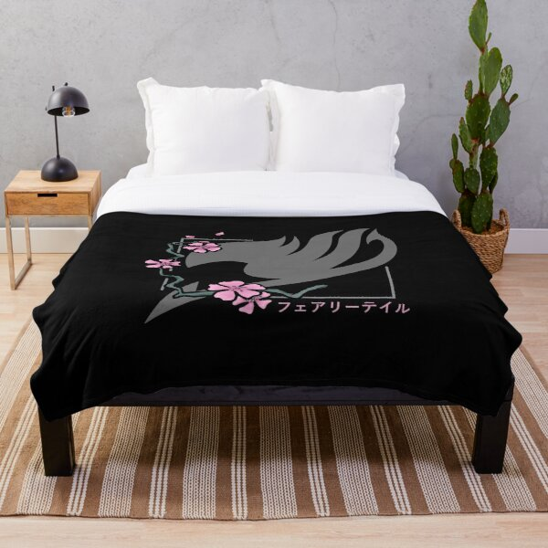 Fairy Tail Cherry Blossoms Throw Blanket RB0607 product Offical Fairy Tail Merch