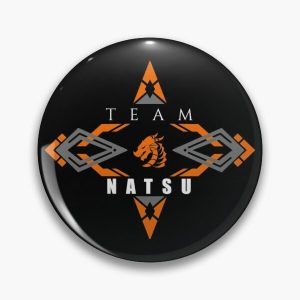 Natsu fire dragon orange Fairy tail anime emblem v2 Pin RB0607 product Offical Fairy Tail Merch